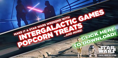 Star wars Printables SKGaleana Intergalactic Games and Popcorn Treats