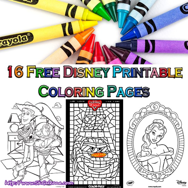 16 free Disney Printable Coloring pages