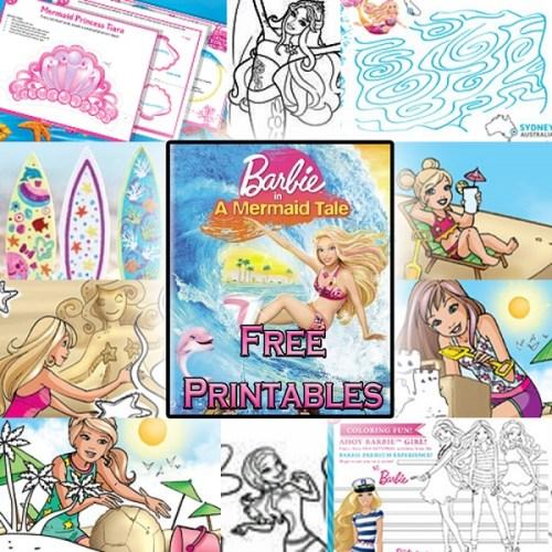 Barbie in a mermaid tale free printables