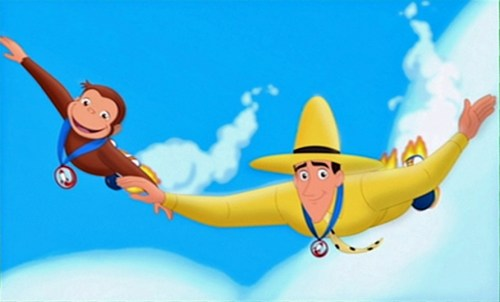 Curious George 3 Back to the Jungle flying