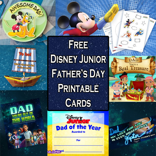 Free Disney Junior Fathers Day Printable Cards