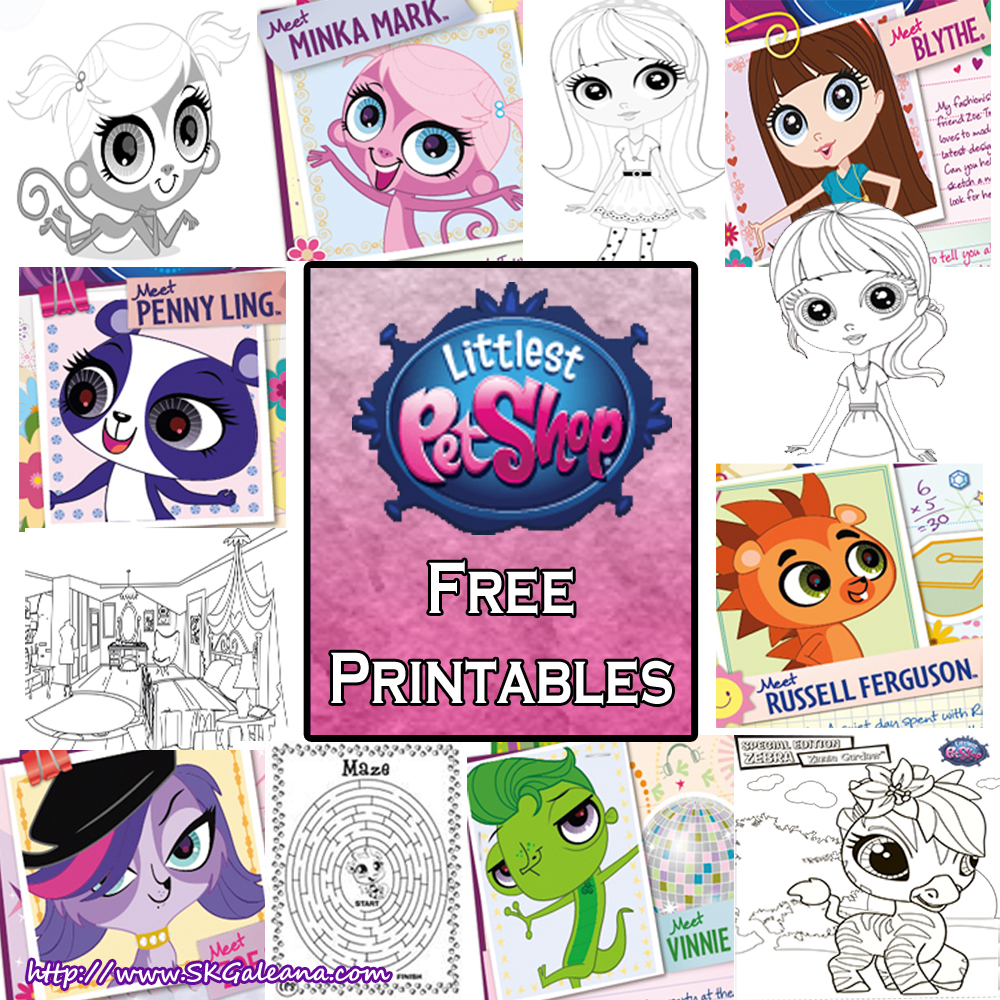 Littlest Pet Shop Free Printables And Activities Skgaleana