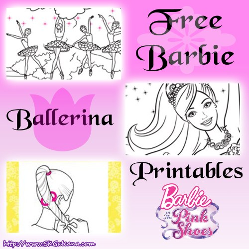 Barbie Ballerina Printables from Pink Shoes