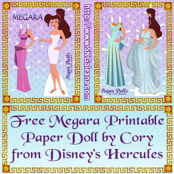 Free Printable Paper Doll of Meg from Disney's Hercules