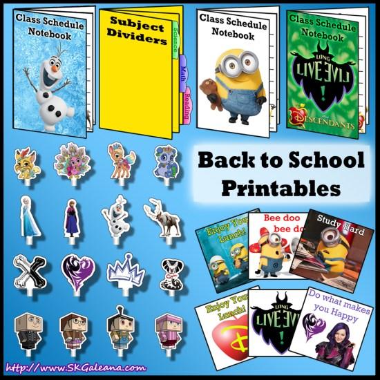Back to School Printables by SKGaleana