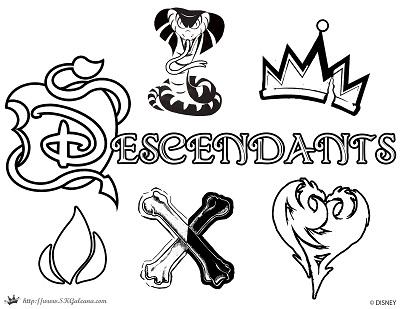 image regarding Descendants Coloring Pages Printable named Absolutely free Disney Descendants Coloring Web pages SKGaleana