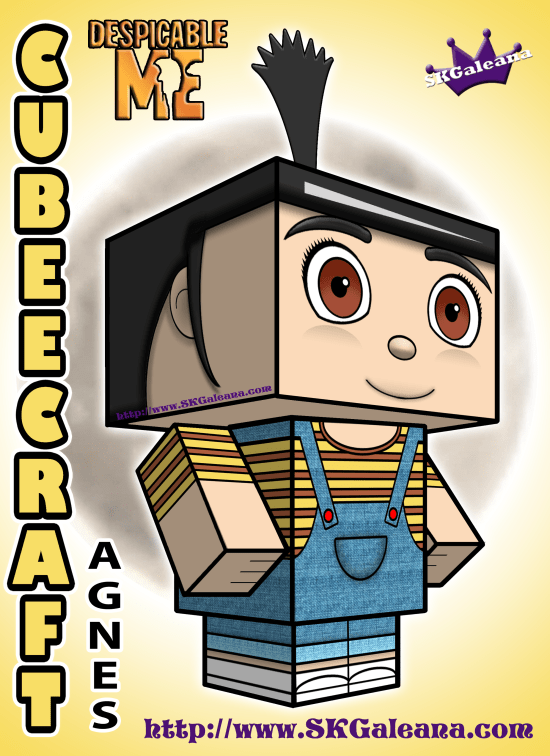 Despicable Me Agnes Cubeecraft 3D by SKGaleana