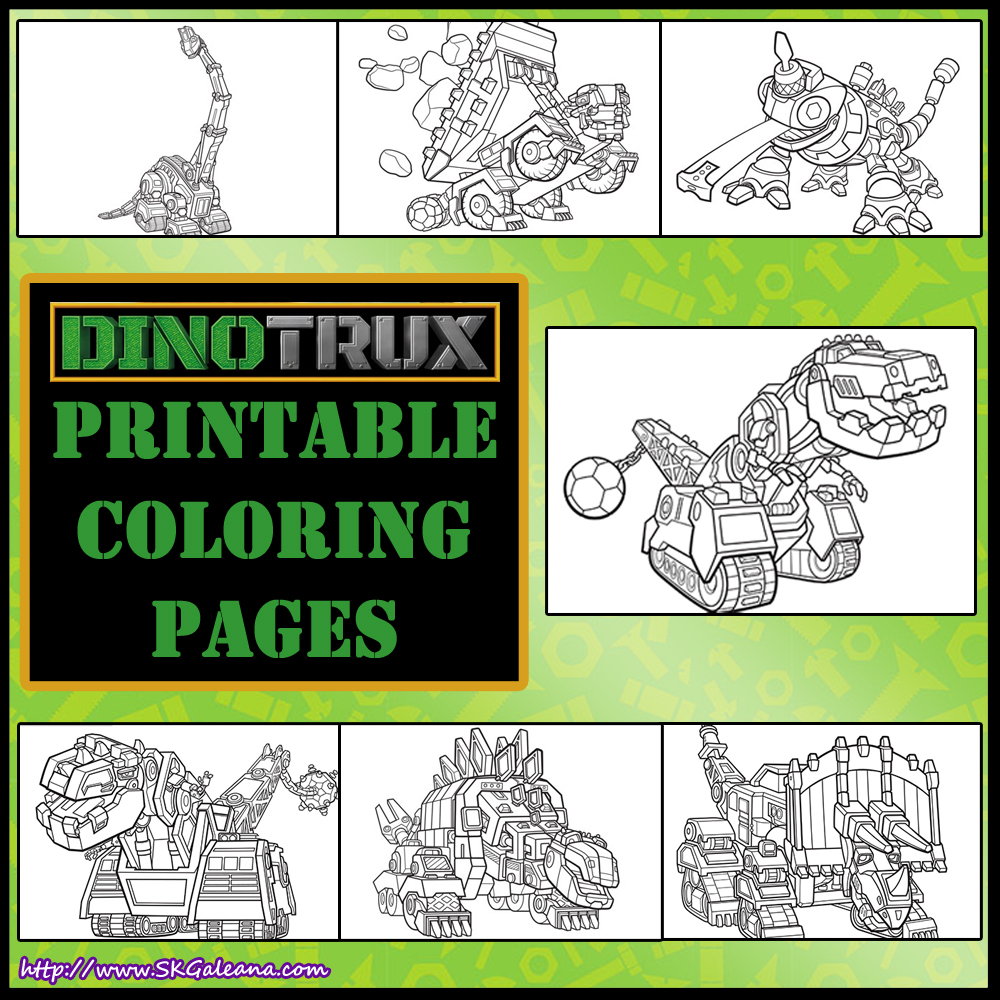 Dinotrux Birthday Party Ideas and Themed Supplies | Coloring pages ... | 1000x1000