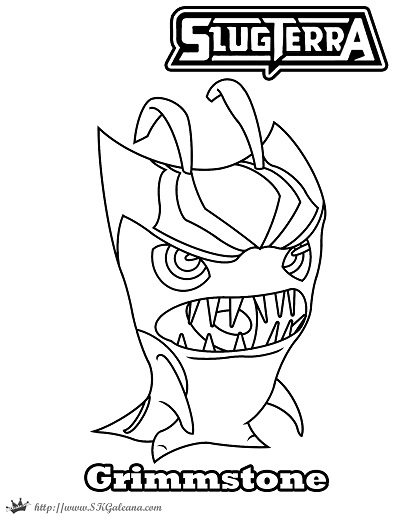 Free Halloween Coloring Page Featuring Grimmstone from