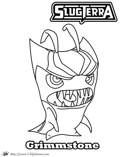 Halloween Grimmstoner coloring Page Slugterra SKGaleana