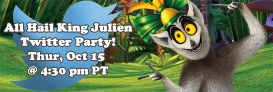 All Hail King Julien Twitter Party