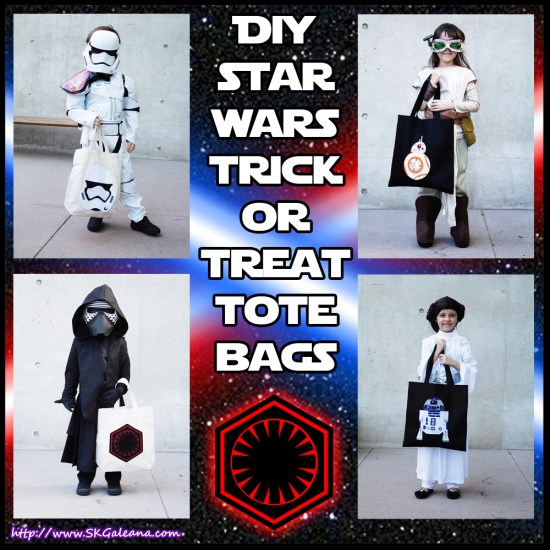 DIY star wars trick or treat tote bags