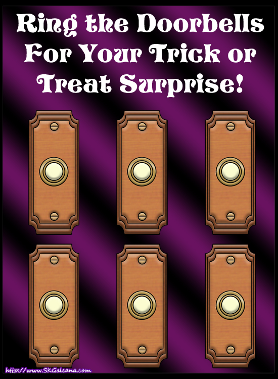 Trick or treat Doorbells