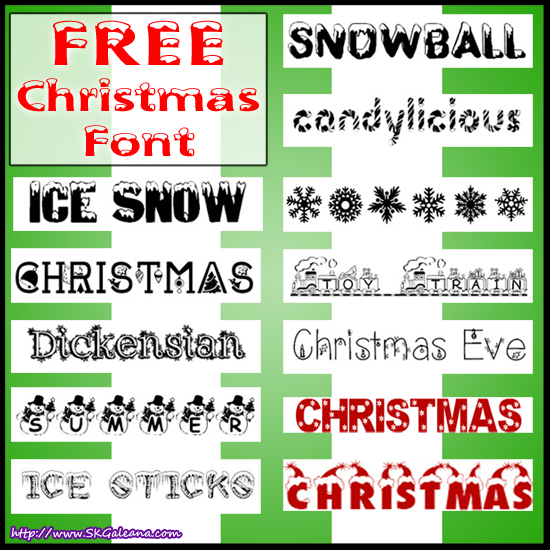 Free Christmas Fonts.Over 60 Free Christmas Fonts Skgaleana