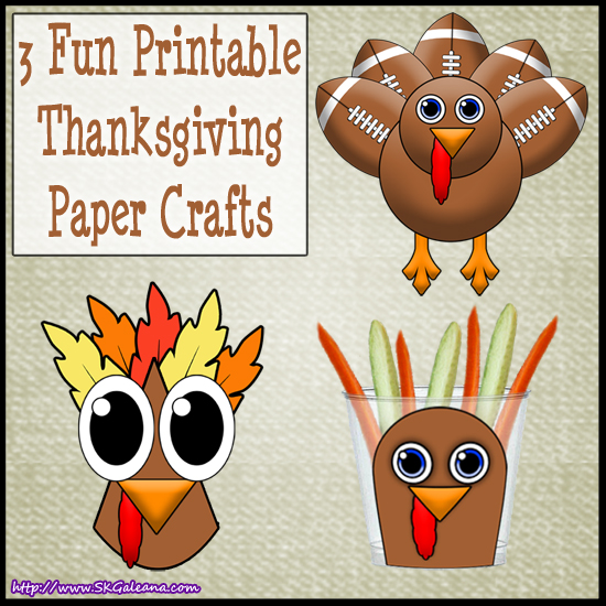 Thanksgiving Printable Paper crafts by SKGaleana