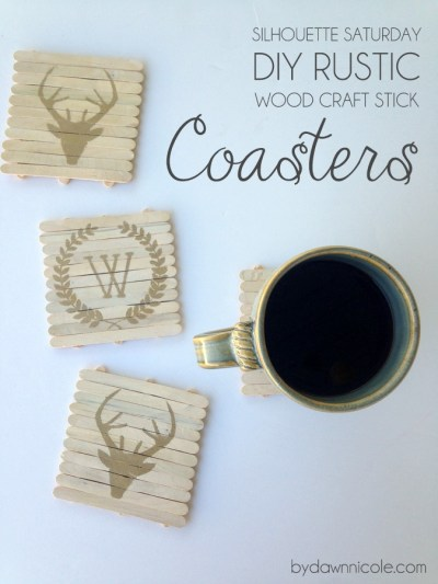 By Dawn Nicole rustic coasters DIY