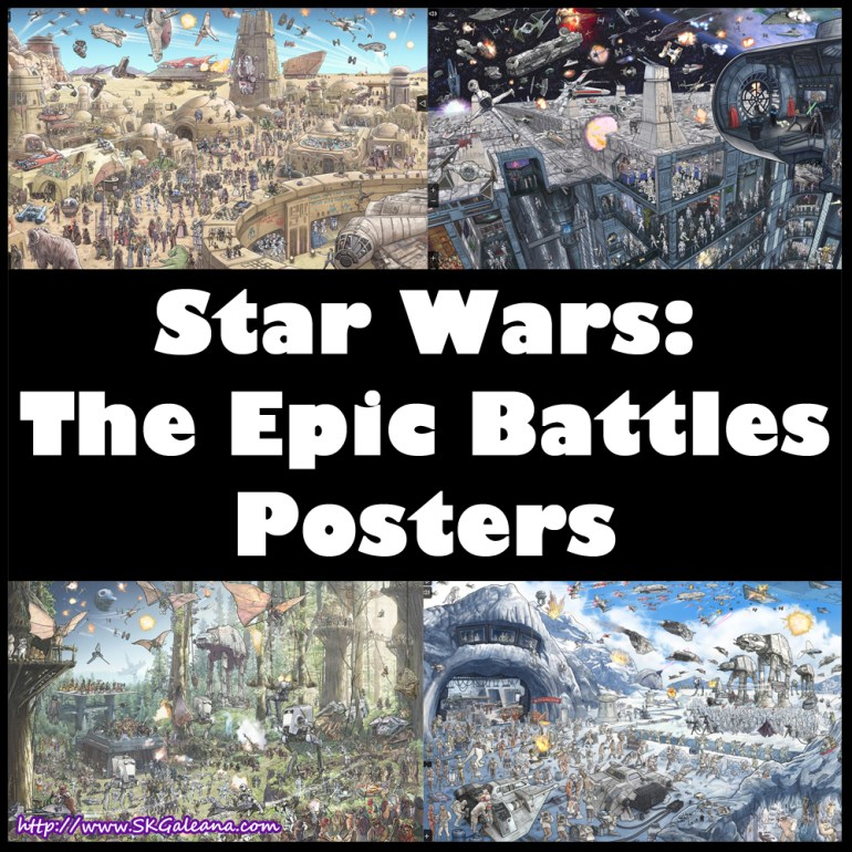 Star Wars The Epic Battles Posters