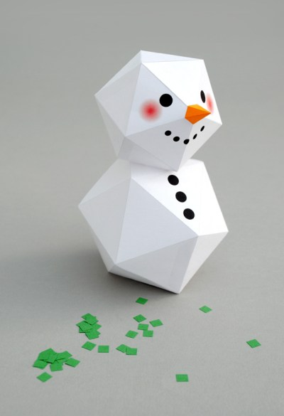 snowy paper craft