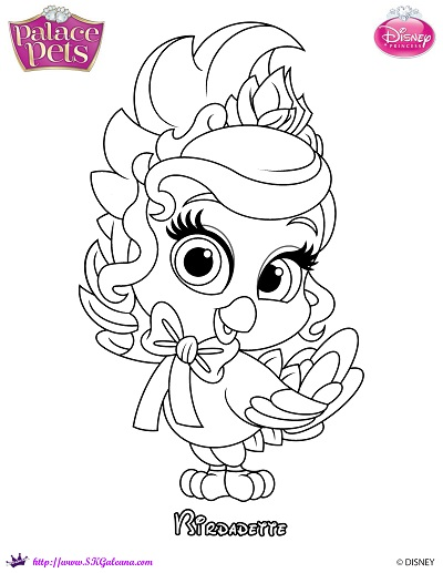 Princess Palace Pets Coloring Page of Birdadette