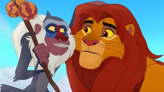 Rafiki and  Simba