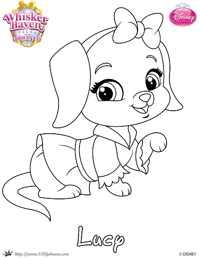 Whisker Haven Tales Coloring Page of Lucy | SKGaleana
