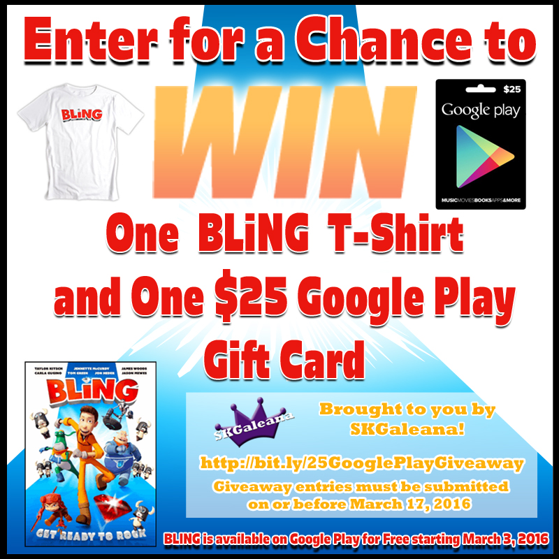 BLiNG Review & $25 Google Play Gift Card Giveaway – SKGaleana