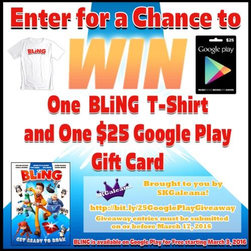 25 google play gift card giveaway SKGaleana