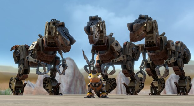 After Click Clack takes down the leader of the desert scraptors, the scraptors are suddenly on Team Click Clack.