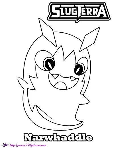 Free Narwhaddle Coloring Page From Slug It Out