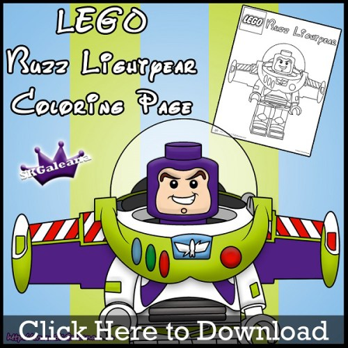 Lego Buzz Lightyear Coloring Page by SKGaleana download image