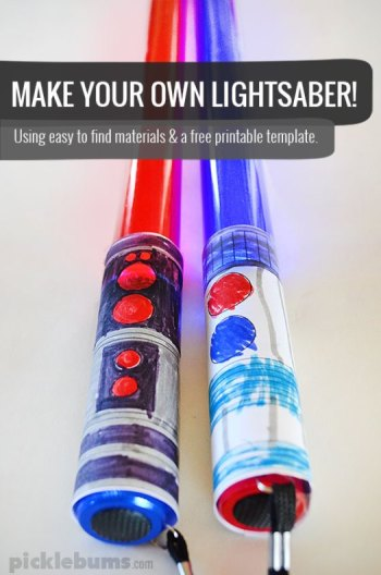 12 Diy Star Wars Lightsaber Crafts For Kids Skgaleana