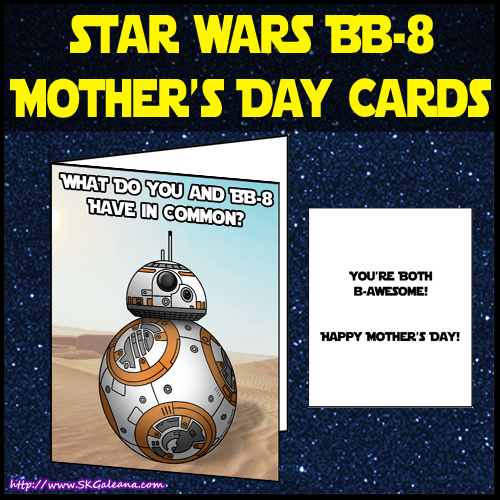 BB-8 Mothers day card by SKGaleana image