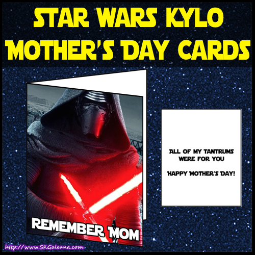 Kylo Ren Mothers day card by SKGaleana image