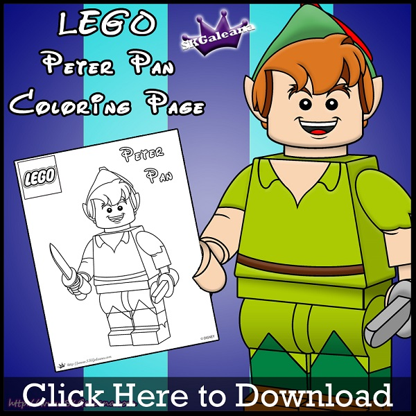Lego Peter Pan Coloring Page By SKGaleana Download Image