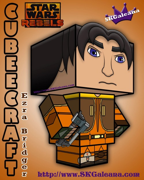 Star Wars Rebels Ezra Bridger 3D Cubeecraft by SKGaleana