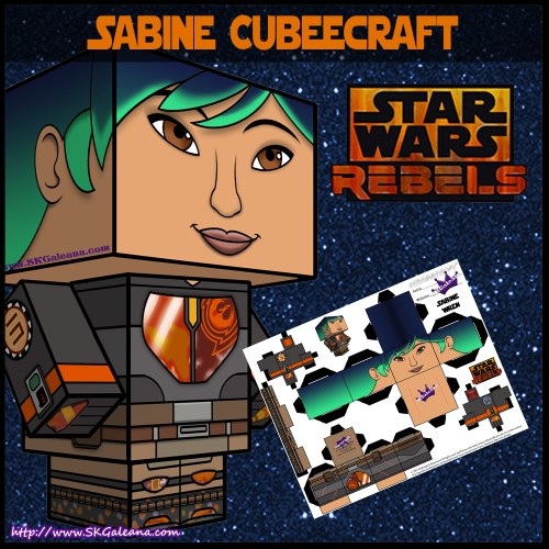 Star Wars Rebels Sabine cubeecraft download image