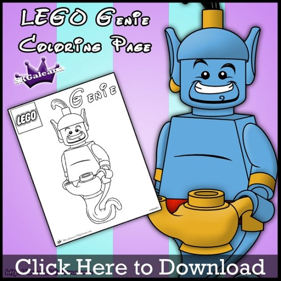 Lego Genie Coloring Page by SKGaleana Download image