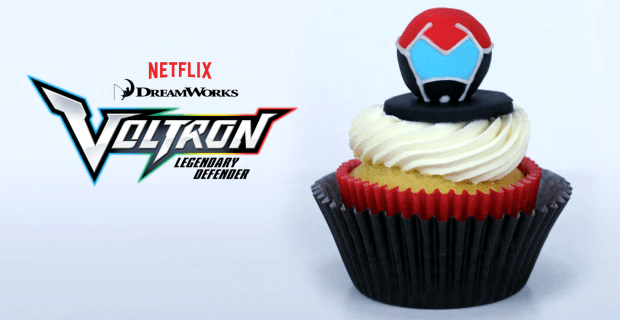 Voltron Legendary Defender Cupcake toppers