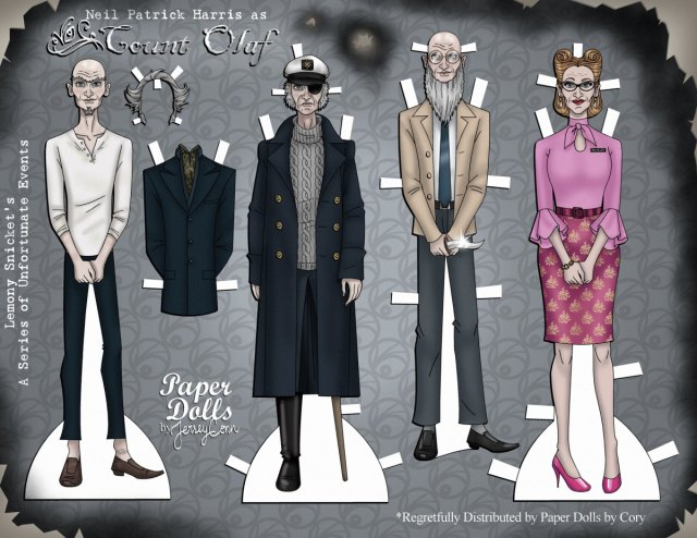 the best printable count olaf paper doll is free skgaleana