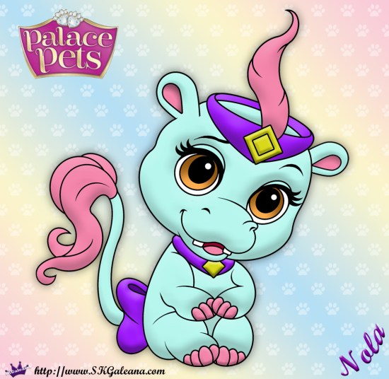 Free Princess Palace Pets Coloring Page of Nola | SKGaleana