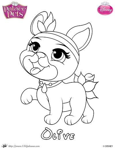free princess palace pets coloring page of olive skgaleana