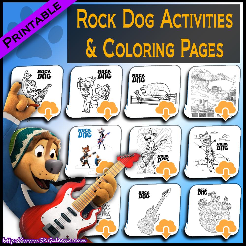 Free Printable Rock Dog Activities