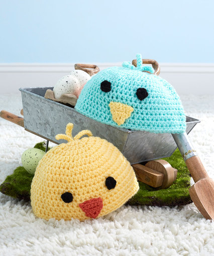 Free Crochet Pattern For Easter Baby Chick Hats Skgaleana