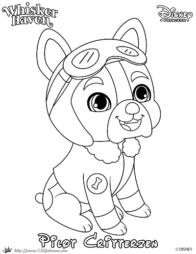 Whisker haven printable coloring pages and activities for Princess pets coloring pages
