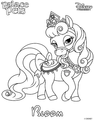 Free Printable Palace Pet Coloring Page Of Bloom Skgaleana Princess Palace Coloring Pages Printable