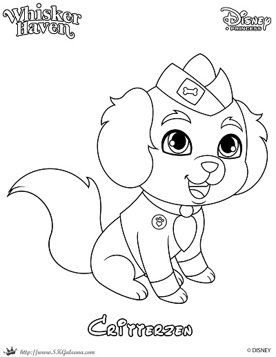 Whisker Haven Tales Coloring Page of a Critterzen - SKGaleana