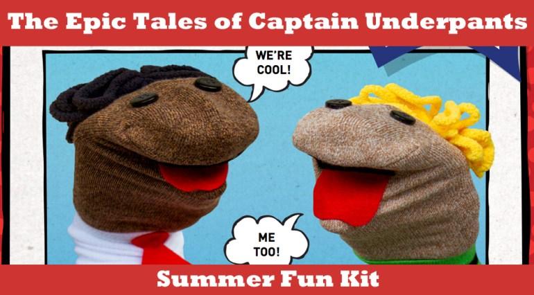 captain underpants summer fun sock puppets skgaleana