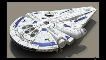 Millennium Falcon Concept Art 1