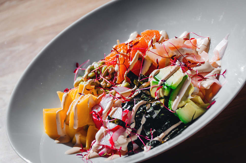bowl of food from Wild Beets kitchen in Les Gets