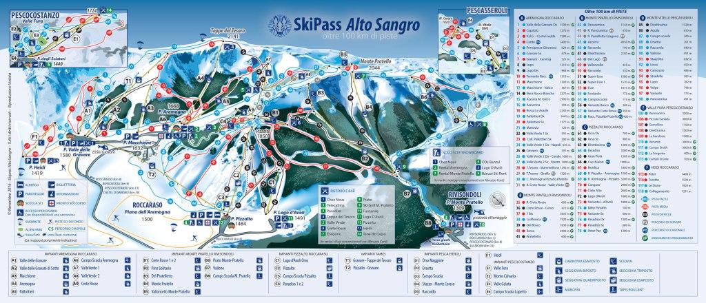 Map of Roccaraso ski area